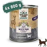 Wildes Land | Wild PUR | 6 x 800 g | Mit Distelöl | Nassfutter für Hunde | Hoher Fleischanteil | Hypoallergen | Getreidefrei und Glutenfreies Hundefutter
