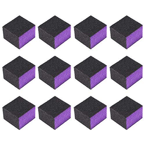 Lurrose Tampon à Ongles Bloc de Ponçage Nail Art Tampon Bloc Pédicure Fichier de Manucure pour Salon de Manucure 50 Pcs