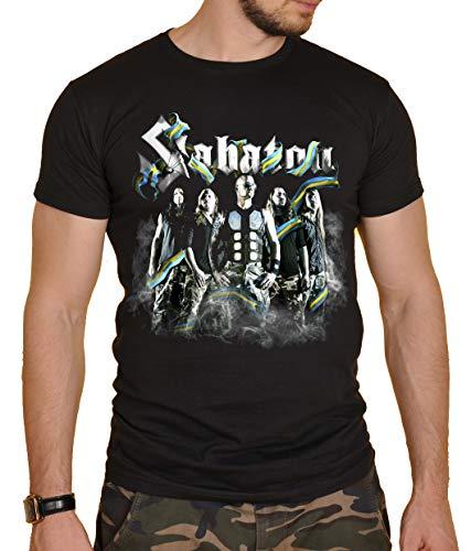 Sabaton Herren T-Shirt Schwarz Schwarz Gr. XL, Schwarz