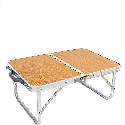 Table pliable Alliage d'aluminium portable Tables de Camping extérieures Type d'épaississeHommest Ultra-léger Table de ménage Paresseux Bureau d'ordinateur (Couleur   A)