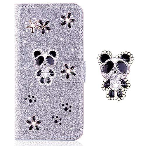 Flip Wallet Stand Funktion für Samsung S7,Bookstyle Leder Musterg Diamond Sparkle Slim Bling Glitter Glitzer Karteneinschub Magnet Hülle Schutzhülle
