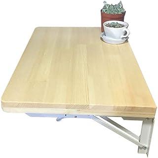 Pliant Table Murale À Abattant, Ordinateur De Bureau Bureau D'étude, en Bois Cuisine Table À Manger Naturel (Taille : 120x...