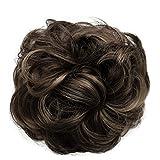 PRETTYSHOP Hairpiece coleta Scrunchy updos engrosamiento del pelo banda para el cabellodiv. Colores