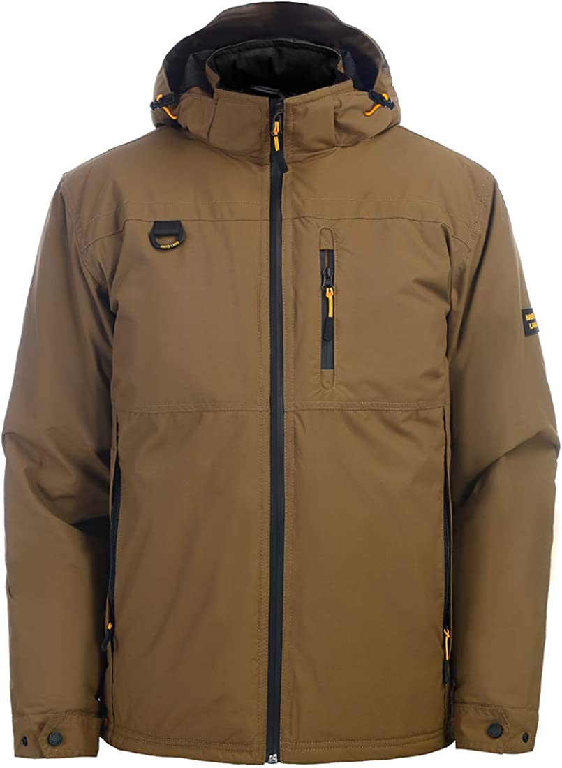 HARD LAND Men's Ski Jacket Down Insulated Waterproof Winter Jacket Windproof Snowboard Snow Coat