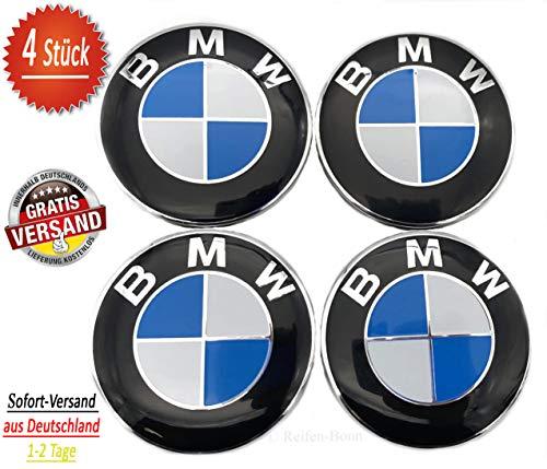 4x BMW 68 mm Nabenkappen für Alufelgen Felgendeckel 68mm Nabendeckel Nabenabdeckungen Nabenkappe 36136783536 4 Stück kompatibel zu BMW 1er 2er 3er 4er 5er 6er 7er 8er X1 X3 X4 X5 X6 Z3 Z4 F20 F30