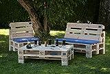 PALma Meubles palette Salon de jardin de qualité (avec pieds, palettes claires)