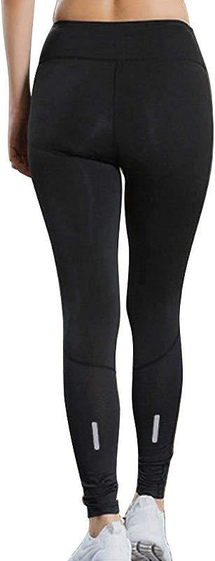 Yetou Women Yoga Capri Pants With Pockets High Waist Tummy Control Leggings 4 Way Stretch Soft Running Leggings Black
