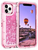 Coolden Case for iPhone 11 Pro MAX Cases Protective Glitter Case for Women Girls Cute Bling Sparkle Heavy Duty Hard Shell Shockproof TPU Case for 2019 Release 6.5 Inches iPhone 11 Pro MAX, Pink