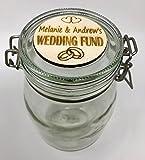 Una Casa Tarro de ahorro personalizado para fondos de boda – Hucha