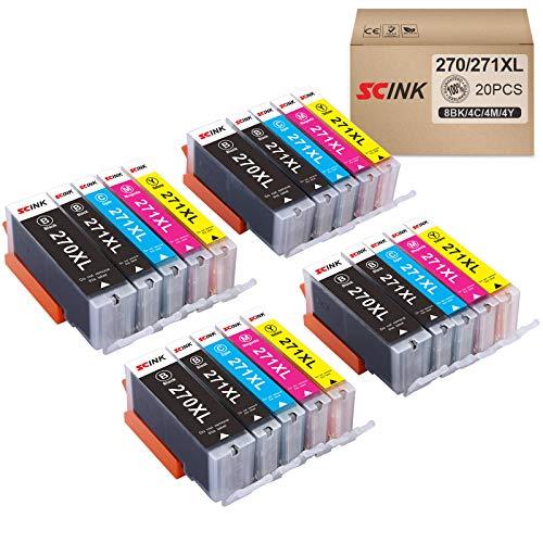 SCINK 270XL 271XL 270 271 XL - Cartuchos de tinta (5 colores, 4 juegos sin gris, compatible con...