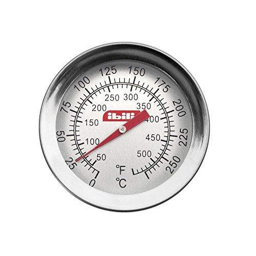 IBILI - Termómetro con sonda (Acero Inoxidable, 14 x 30 x 30 cm), Color Plateado y Blanco