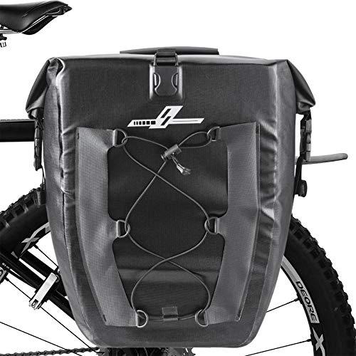 Komake Fahrradtasche Gepäckträger, wasserdichte hintere Fahrradtasche mit Tragegriff, reflektierende Verkleidung, 27 l, fit für Radtouren und Arbeiten