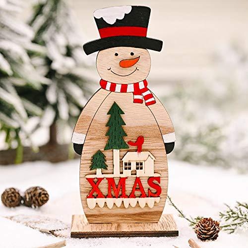 DIAOSUJIA Addobbi Natalizi,Christmas Box Pupazzo di Neve Ornamenti per Babbo Natale con Luci Tavolo di Natale Decor per La Casa Natale Ornement Regalo di Natale Regalo di Natale