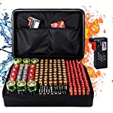 Fireproof Battery Organizer Storage Box Fireproof Waterproof Explosionproof Safe Carrying Case Bag Hard Holder, Holds 200+ Batteries AA AAA C D 9V, with Battery Tester BT-168 (Not Includes Batteries)