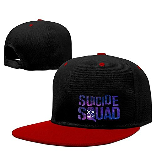 Hittings Suicide Squad Logo Baseball Adjustable Hip Pop Cap Hats Unisex,men And Women Red Red