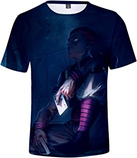 ZXRYF Cosplay 3D Imprimé Chemise T-Shirt À Manches Courtes À Manches Courtes Col Rond À Capuche, Adapté Au Printemps Et en...