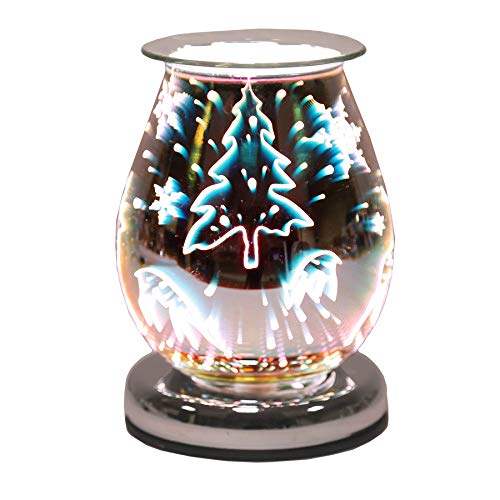 Oval 3D Reindeer Scented Aroma Wax Burner Electric Touch