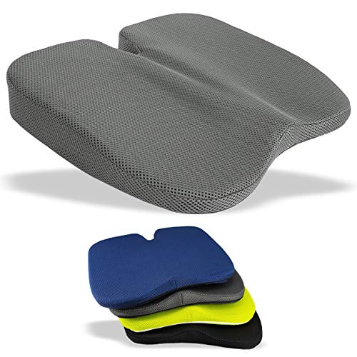 Medipaq Freedom Wedge Cushion - Great for Coccyx Relief, Lumbar Support, Back Pain in The Car or at Home (Grey 3-D Mesh)
