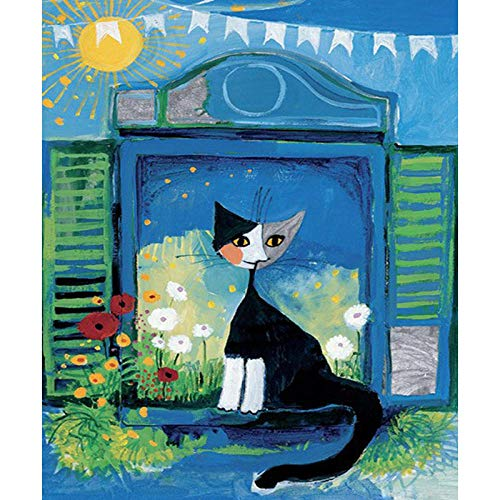 Mouygsd Pinturas Diamantes Decoración,DIY Full Diamond Cartoon Cat 5D Diamond Painting-40 * 40Cm Frameless