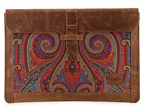 Londo Genuine Leather Sleeve Bag for MacBook Pro & Air 13.3 & 13 Inch, OTTO186