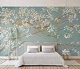 Papel pintado pintado a mano Pintura al óleo Flores de cerezo Fondo de pared de flores del norte de Europa Mural de pared 3D Papel pintado de pared mo papel pintado a papel pintado pared -400cm×280cm