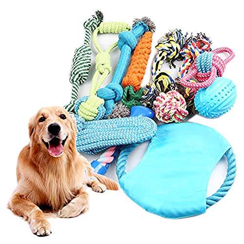 Juguete Interactivo Conjunto para Perros y Mascota de Cuerda para Perros 7 Piezas de Algod/ón Cuerda Juguete para Cachorros Incluyendo Pelota de Cuerda Cachorros y Perros de Peque/ños a Medianos