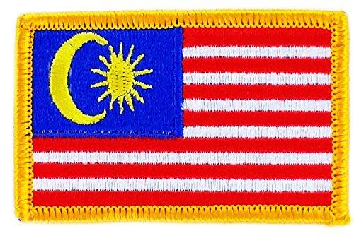 Opnaaier, geborduurd, vlag Maleisië, om op te strijken, voor rugzak