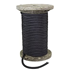 FMS Premium Polyester Accessory Cord by Ravenox   Super Strong 16-Braid Rope for Outdoor Recreation   Pre Cut 4-6mm Diameters x 25 to 1000 Feet Lengths (5 Colors) Made in the USA