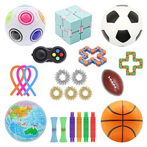 24 Stück Fidget Sensory Toy Set, Sensory Zappeln Anti Stress Spielzeug, Angst Relief Finger Toys für Kinder