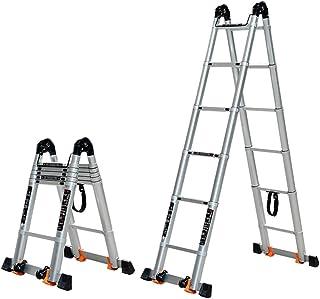 Autofather Escalera Telesc/ópica de Extensi/ón para Uso en Interiores y Exteriores Port/átil Reino Unido 3,8 m Peso Ligero