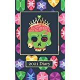"""2021 Diary: Bling Zombie - Plan Your Year! (5"""" x 8"""", 114 Pages)"""