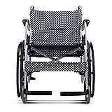 Hyy-yy Silla de rehabilitación médica, silla de ruedas, silla de ruedas plegable de peso ligero de conducción médica, sillas de ruedas portátil de aleación de aluminio de ancianos discapacitados viaje