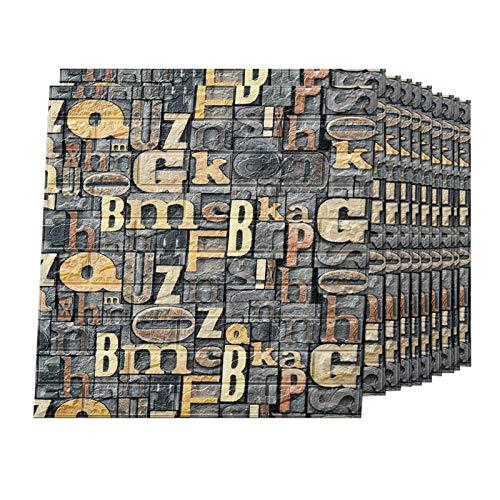 3d Tapete, Wandverkleidung, Wandpaneele Selbstklebend,Wallpaper Wandsticker, Pe-Schaum, 3d Wallpaper, Stein Relief, FüR Dekoration, KüChe, Wohnzimmer, Toilette, Zimmer(AR-310pcas)