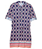 Cabana Life Geo Coverluxe Button Dress Cover-Up Navy Multi LG