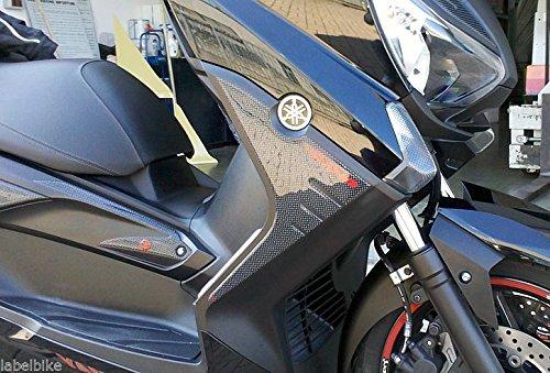 Adhesivos 3D para Scooter X MAX 400 Protecciones Compatible para Yamaha Xmax 400 2013-2016 - Carbono-Rojo