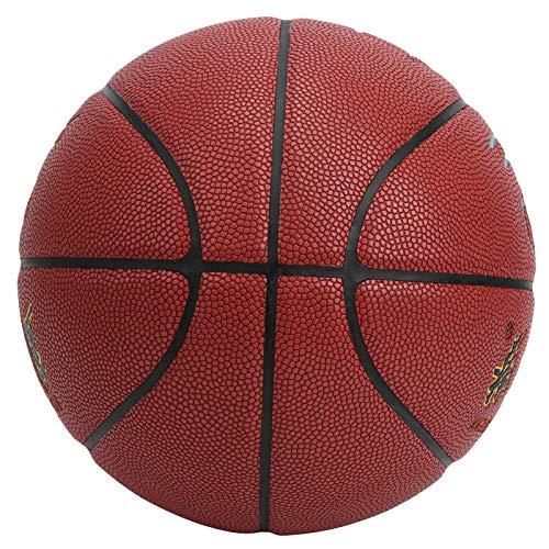 Asixxsix Baloncesto al Aire Libre, Práctica Pasta de Cuero de PU Baloncesto Estable Duradero, para Hombres Ejercicio Niños Jugando