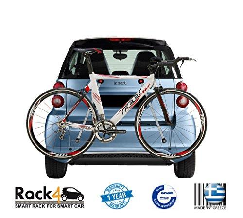 2 porte-vélos pour Smart Fortwo 451 Cabriolet - Coupé (noir)