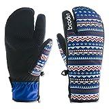LiGG Touchscreen Skihandschuhe Damen Wasserdicht Winddicht Winterhandschuhe Winter Warm Snowboardhandschuhe (Blau, M)