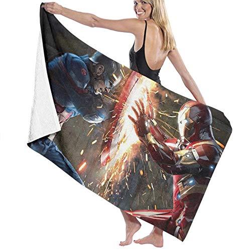 Toalla de baño Capitán América Vs Iron Man, toallas de baño, súper absorbente, toallas de baño para el gimnasio, playa, natación Spa