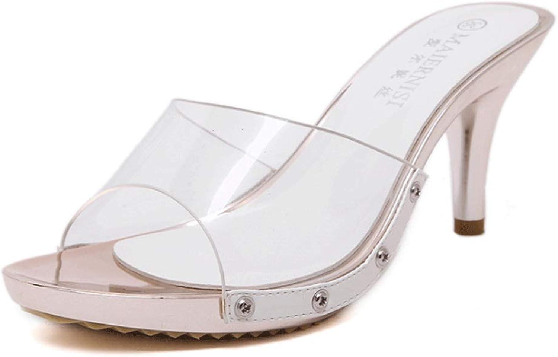 Neue weibliche Sandalen High Heel weiblichen Sommer Kristall mit Sandalen süe Stiletto lssig Fischmund Sommer Flut