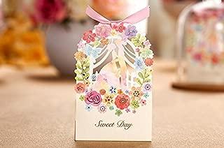 Zorpia New 50 Pack Romantic Wedding Gift Box Elegant Luxury Decoration Flower Bride Laser Cut Party Sweet Favors Wedding Paper Candy Box ZRA0168907