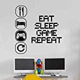 Eat Sleep Play Kinderzimmer Wandaufkleber Mural Vinyl Decal