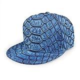 Gorra de béisbol Serpiente Realista Piel de Reptil Cocodrilo Unisex 3D Hip Hop Snapback Sombrero de ala Plana Gorras de béisbol Negro