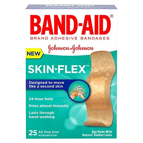 Band-Aid Brand Skin-Flex Adhesive Bandages, All One Size, 25 Bandages Per Box (6 Boxes)