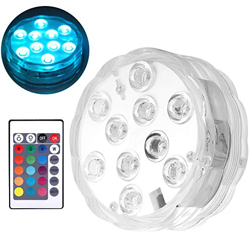 Hopcd Tira de Luces Impermeables Que cambian de Color, Luces LED sumergibles, con Control Remoto bajo el Agua para Fiestas de Eventos de peceras, Bodas