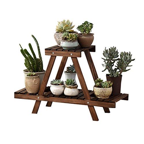 Cadre floral/Support pour plantes d'extérieur / 2 échelle en bois en forme de fleurs Stand jardin patio balcon plante debout fleur pot Rack décoratif présentoir porte-pot de fleur étagère - intérieu