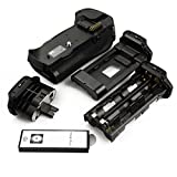 DSTE Remoto Vertical Batería Apretón Titular Compatible para Nikon D700 D300 D300S D900 DSLR Cámara Fotográfica como MB-D10