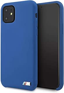 CG Mobile Silicone Case for iPhone 11 Soft Microfiber Interior Cell Phone Cover Hard Case Blue Shock Absorption Drop Prote...