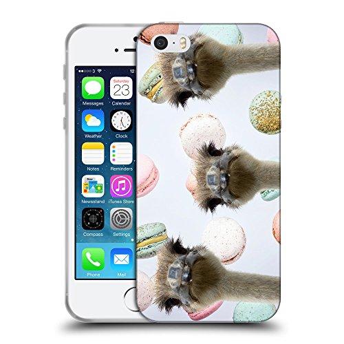 Grand Phone Cases TPU Cover Trasparente Silicone Custodia Clear // Q05530673 3 struzzi Macarons Torta // Apple iPhone 5 5S 5G SE