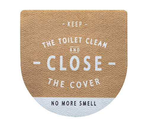 ベストコ(Bestco) トイレのフタに貼る 消臭シート ルール ナチュラル 1枚 簡単 おしゃれ インテリア 日本製 MA-2304
